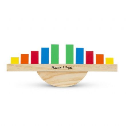 Melissa & Doug Wooden Rainbow Balance Rocking Toy